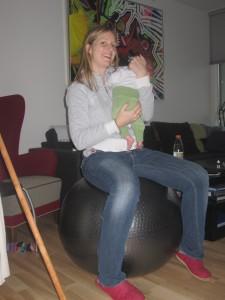 Bolden får måske også din baby til at blive rolig