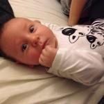 Samuel siger nej tak til ondt i baby maven